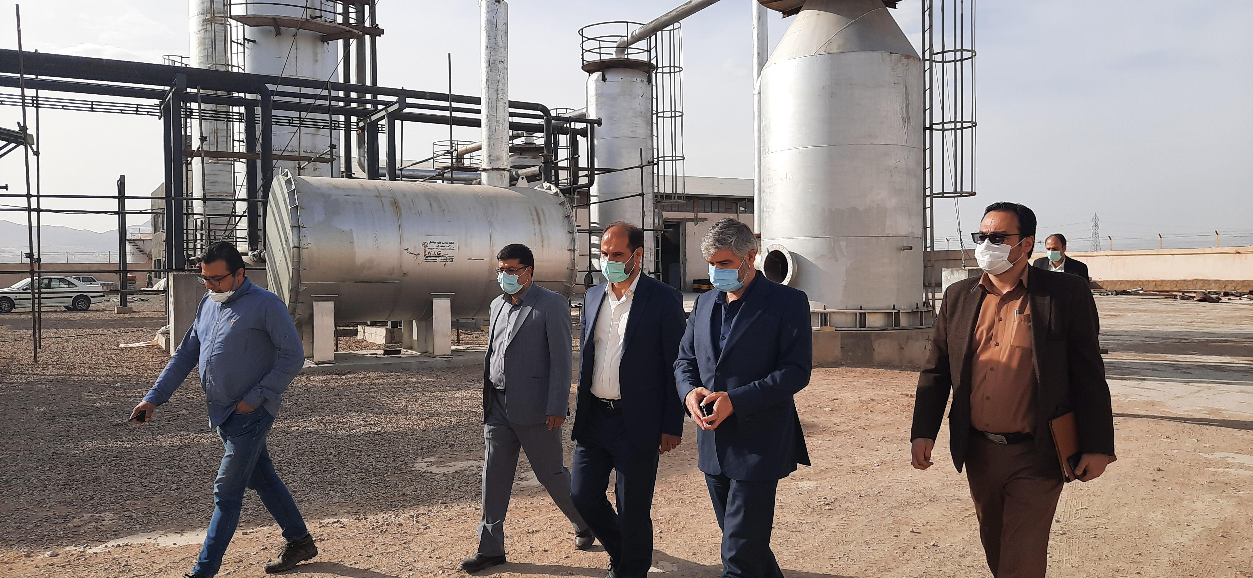 گزارش تصویری بازدید رئیس سازمان از تعدادی واحد صنعتی در دلیجان