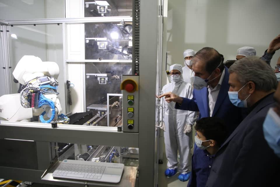 بازدید وزیر صمت از مجتمع صنعتی آرین پارس موتور در شهرستان خمین