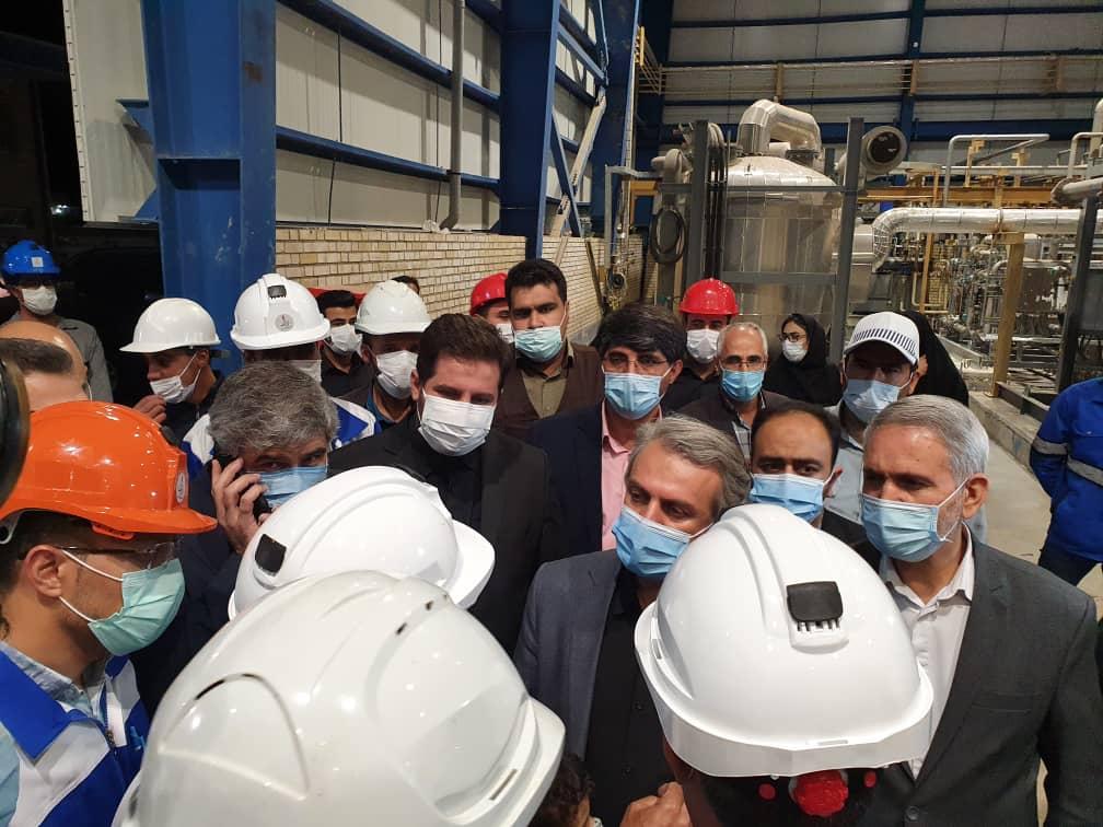 بازدید وزیر صمت از واحد تولید پلی پروپیلن در شهرک صنعتی خمین